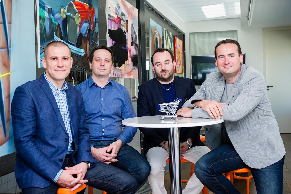 Zleva Daniel Jesenský, Marek Končitík, Michal Bařina a Martin Boček. Foto: Vojta Herout