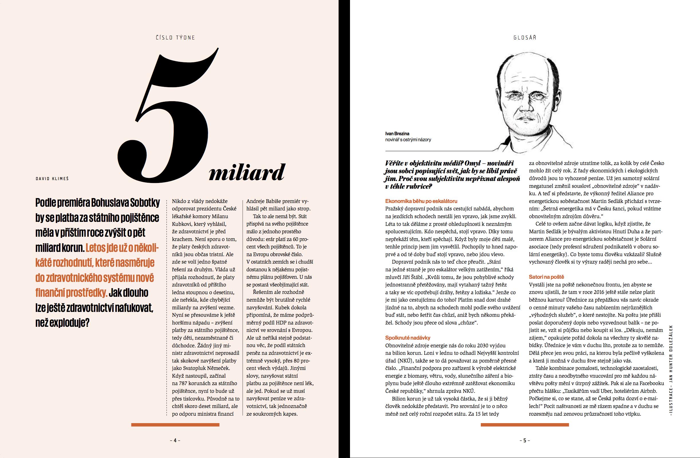 Nová podoba Ekonomu: glosář na straně 4 a 5