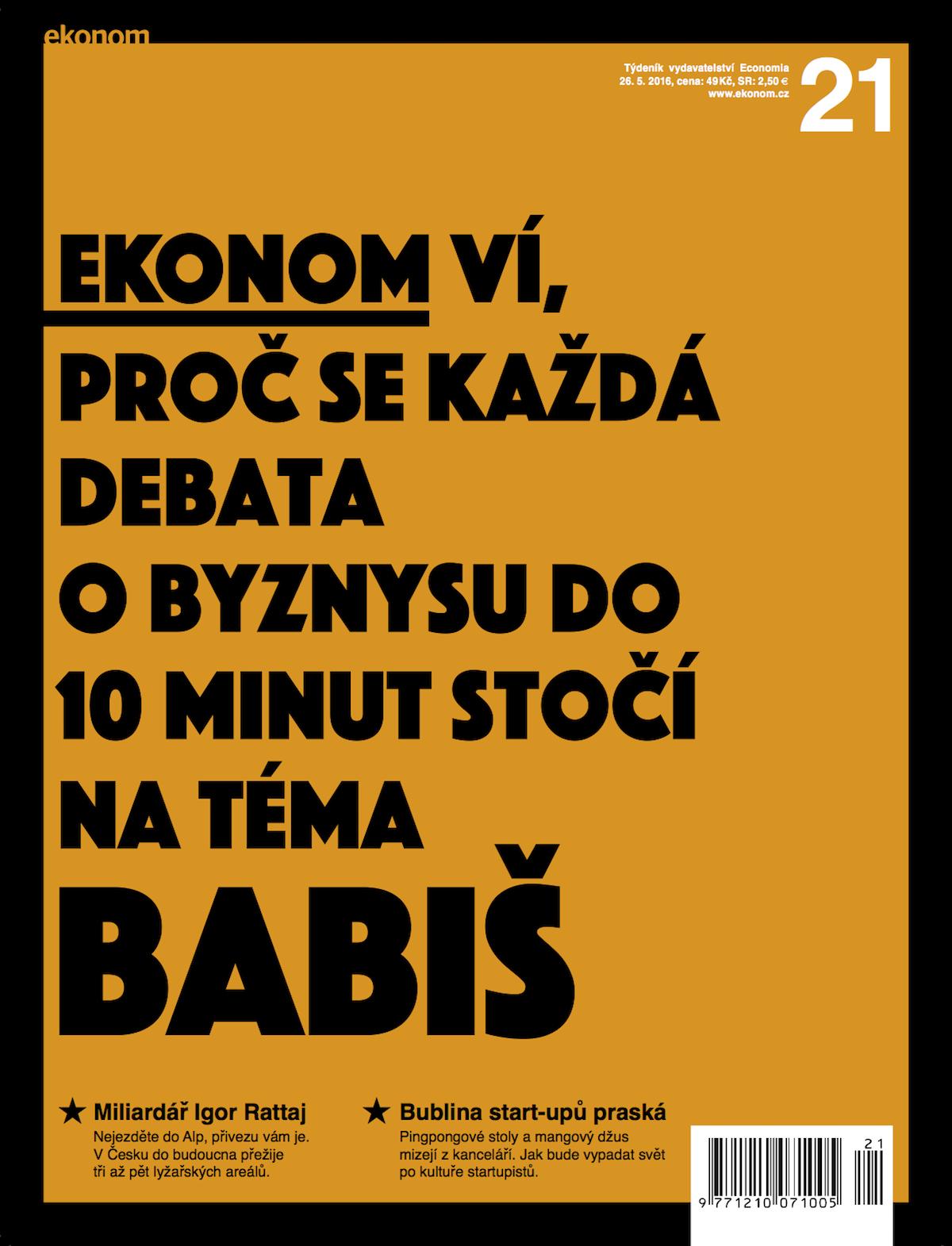 Nová podoba Ekonomu: titulní strana