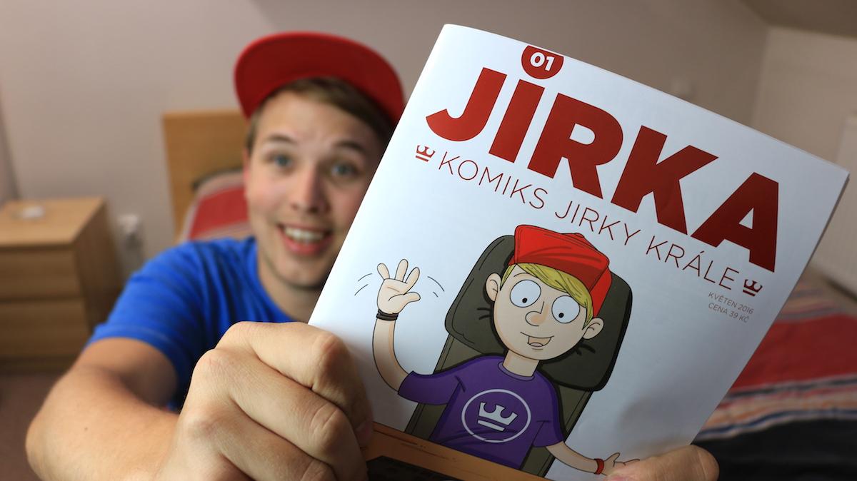 Jirka Král s prvním vydáním svého komiksu