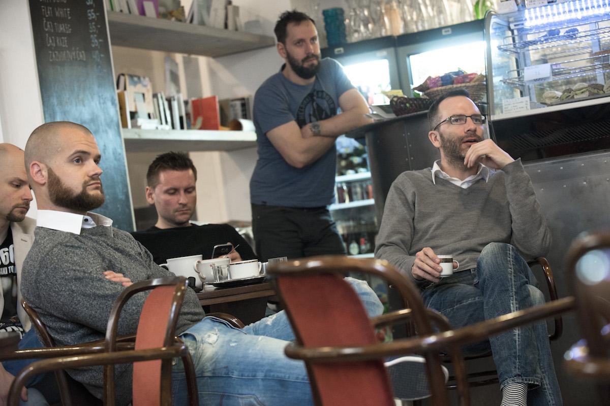 Prvním Media Brunchem s digitálními agenturami provázel Ondřej Aust (vpravo). Foto: David Bruner