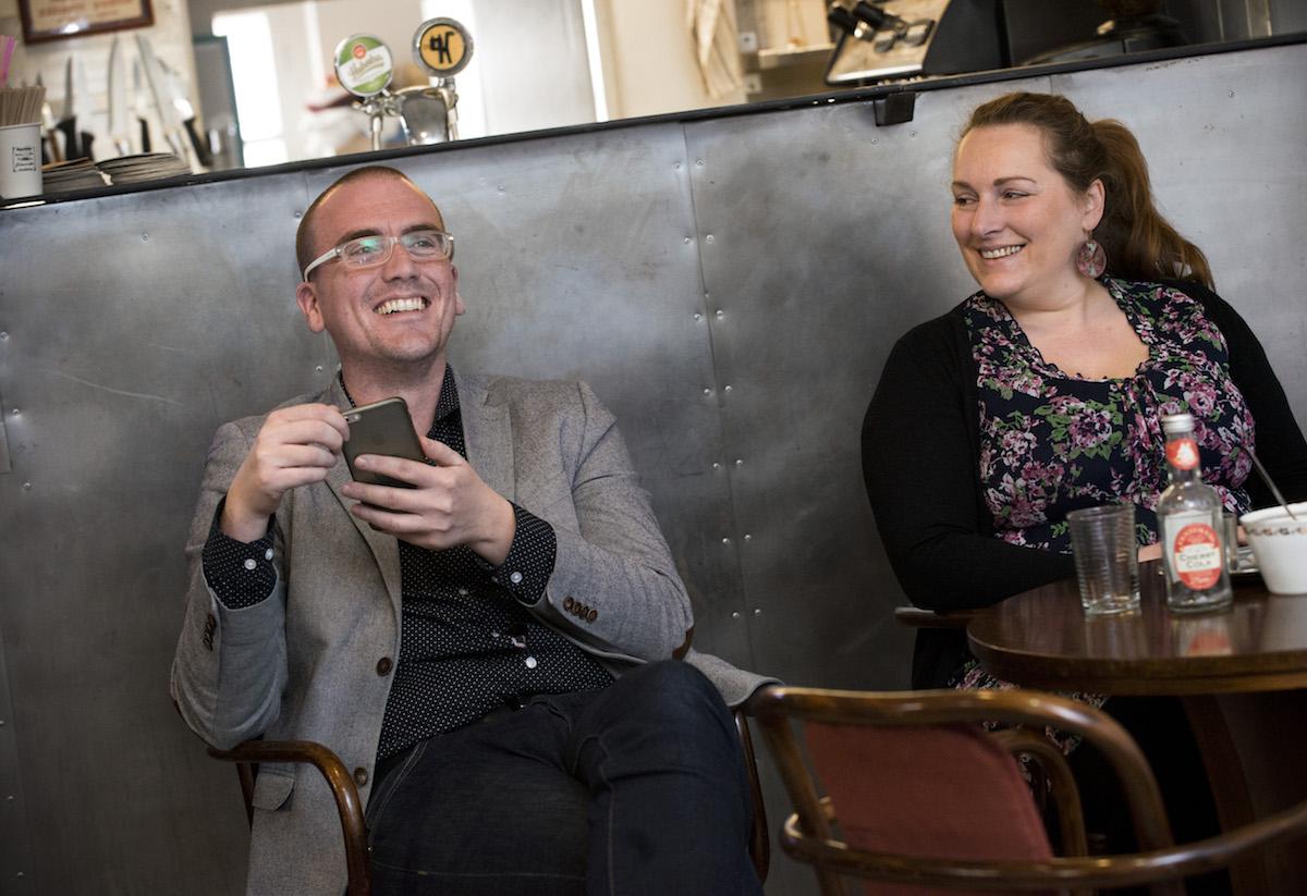 Petr Laštovka (Comtech) a Radka Spiesová z digitální sekce Asociace digitálních agentur. Foto: David Bruner
