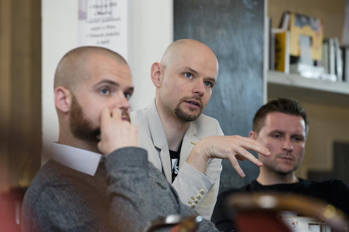 Zleva Jaroslav Malina (McCann Prague), Vladimír Rejlek (Wunderman), Eduard Piňos (OgilvyOne). Foto David Bruner