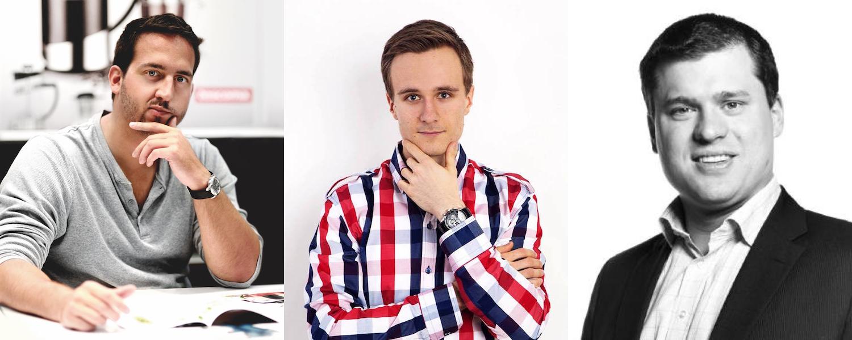 Zleva Jan Podhorný, Jan Somol, Luděk Kremser