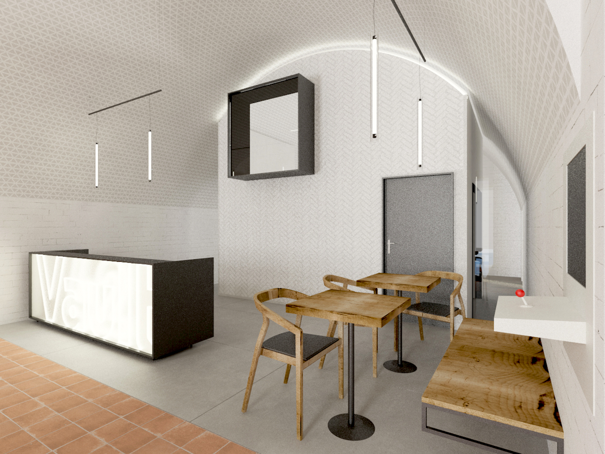 Nové centrum otevře Rency v centru Olomouce. Architektonický návrh: Studio Raketoplán
