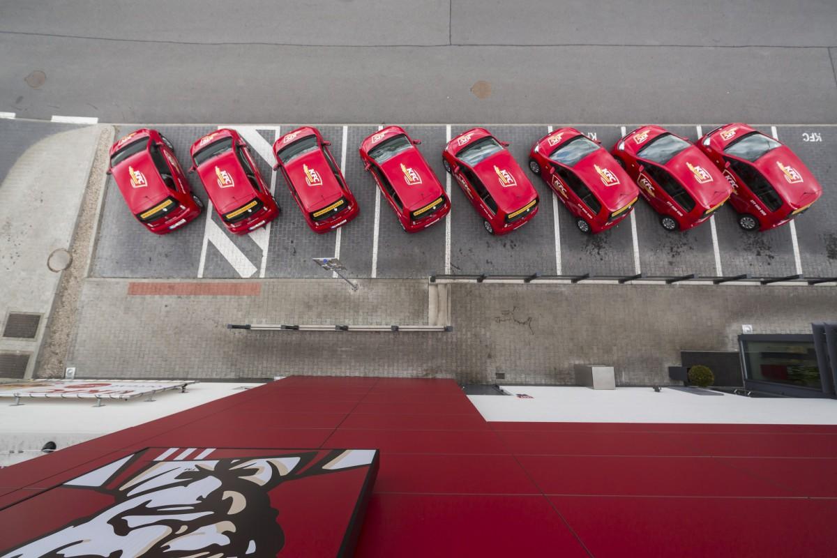 Flotila KFC, kterou činí vozy Škoda CityGo