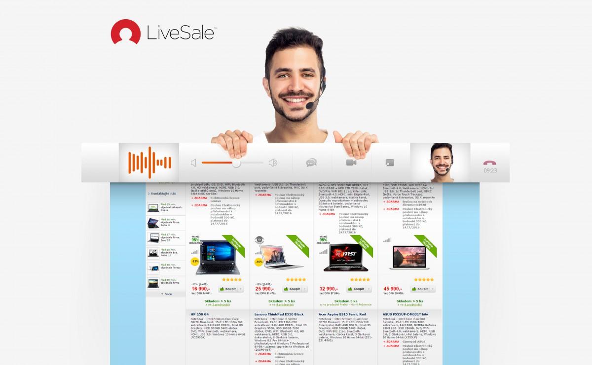 Chatová platforma start-upu Livesale vyvinutého ve Zlíně