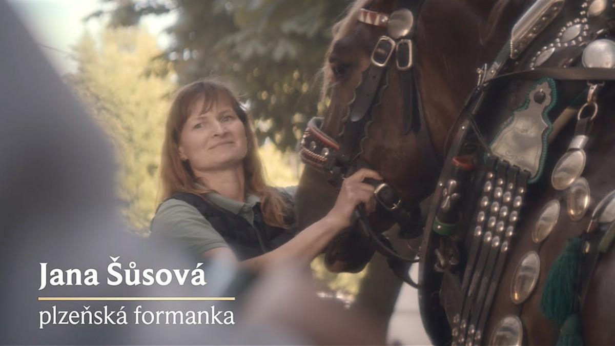 Podnikatelka a ambasadorka Pilsner Urquell Jana Šůsová jako plzeňská formanka