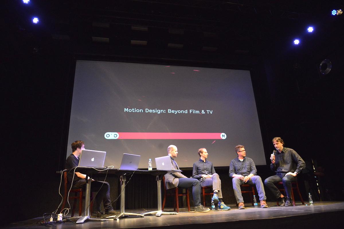 Festival Mouvo nabídl průřez motion designem posledních padesáti let formou showreelů i panelových diskusí. Foto: Barbora Hrdá
