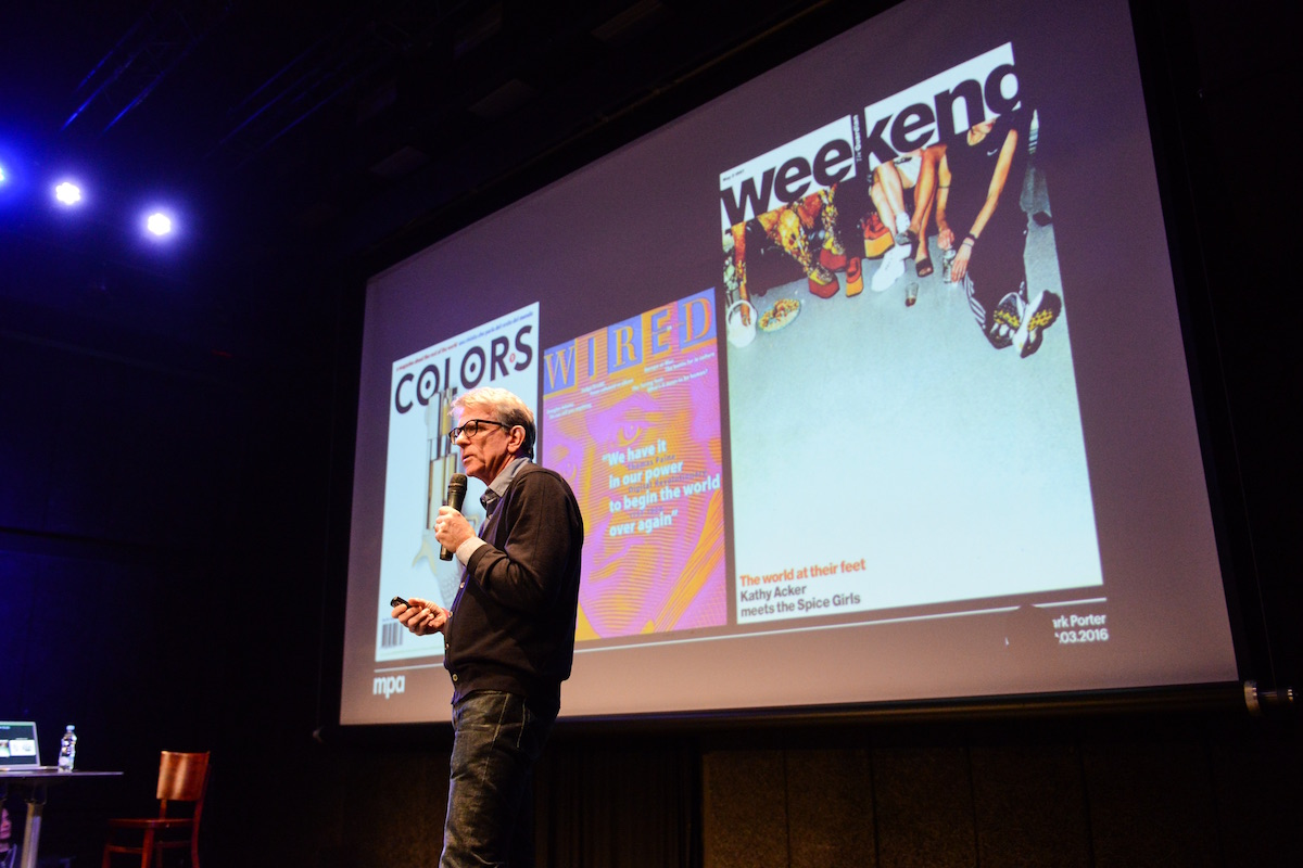 Mark Porter dělal pro Benetton, Wired i The Guardian. Foto: Barbora Hrdá