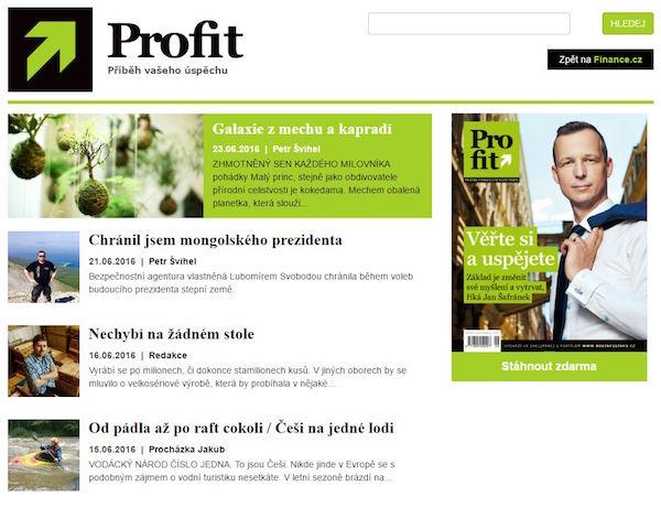 Nová podoba Profitu na webu