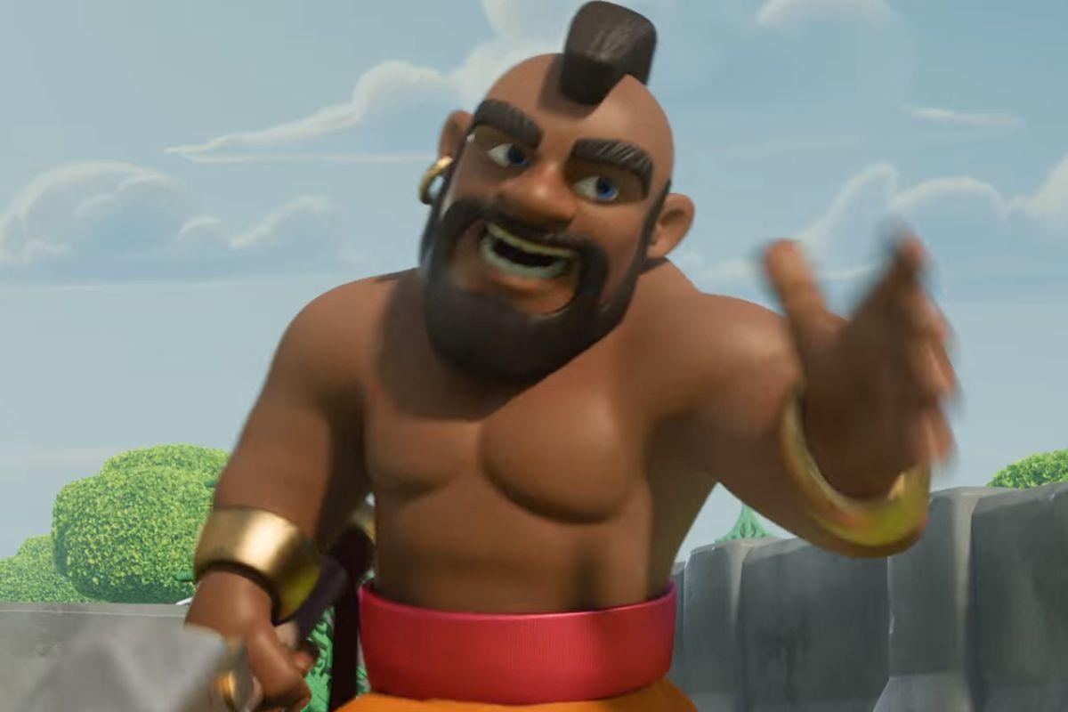 Žebříčku vévodí animovaný spot epické online strategické hry Clash of Clans (Souboj klanů)