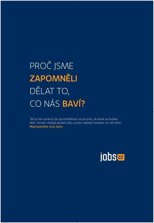 Nápaditá práce s jazykem v podání agentury Outbreak pro portál Jobs.cz obsadila místo druhé