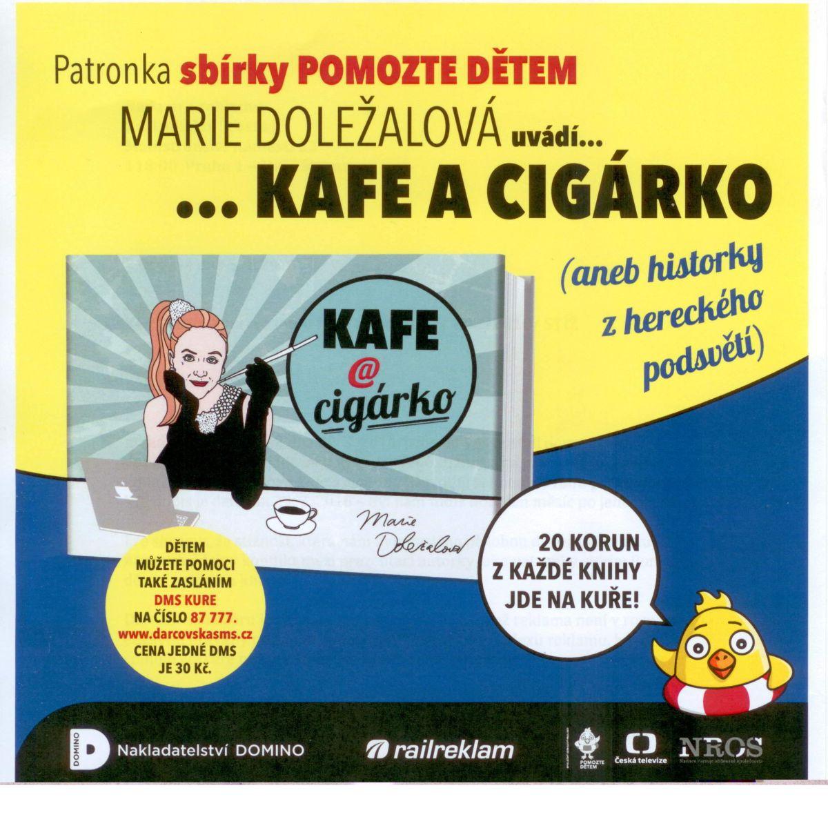 Kampaň knížky Kafe a cigárko