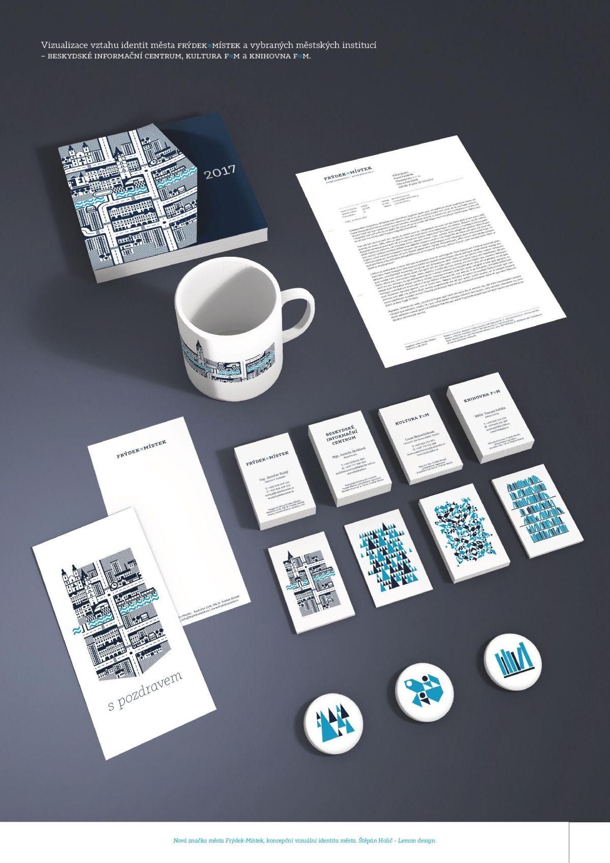 Vítězný návrh nové vizuální identity Frýdku-Místku