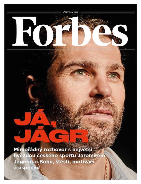 Jaromír Jágr na obálce Forbesu z června 2016