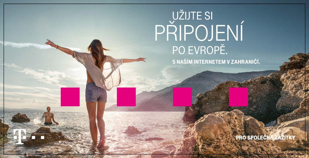Ukázka bannerů propagujících evropské roamingové připojení