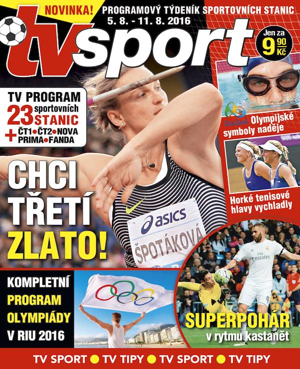 Titulní strana prvního vydání týdeníku TV sport