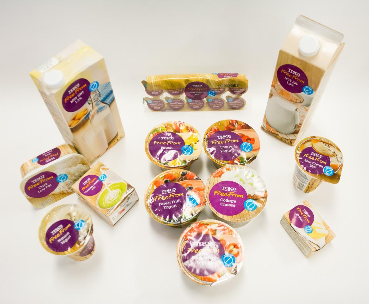 Tesco rozšířilo sortiment bezlaktózových výrobků Free From
