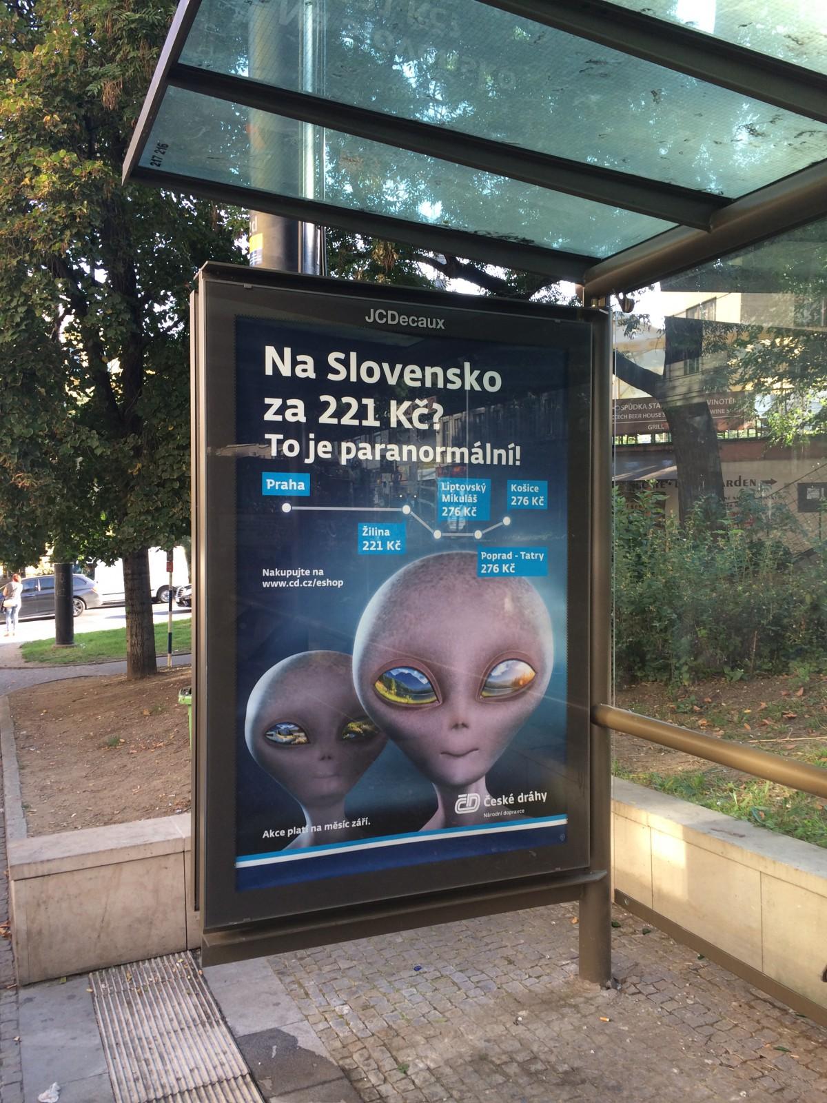 """České dráhy nabízejí pod sloganem """"Paranormální"""" levné cestování na Slovensko"""