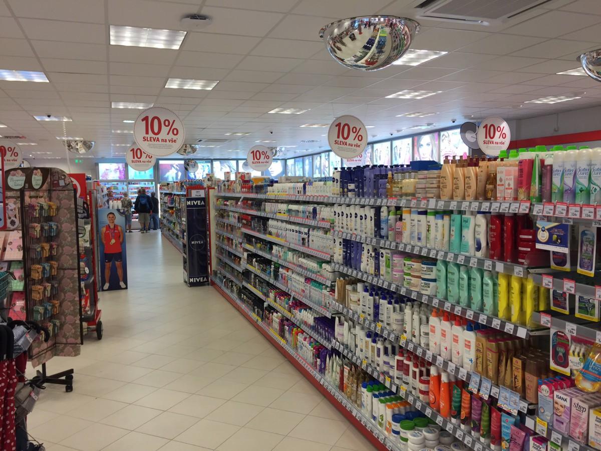 Nově otevřený prostor prodejny Rossmann ve Vrchlabí