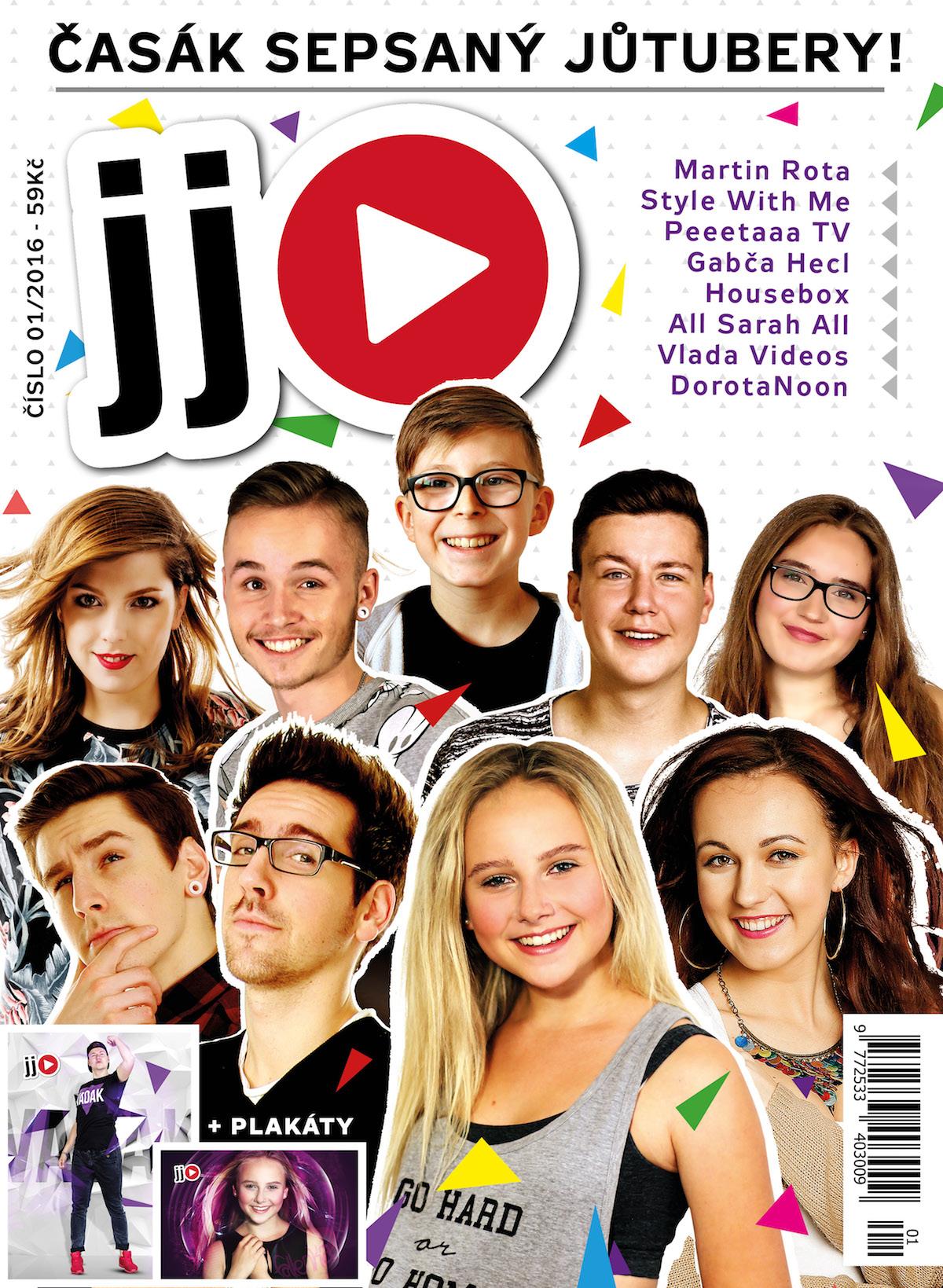 Titulní strana časopisu JJ