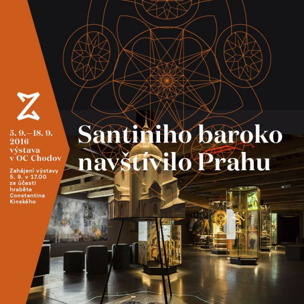 Výstava Santiniho baroko bude k vidění v Centru Chodov