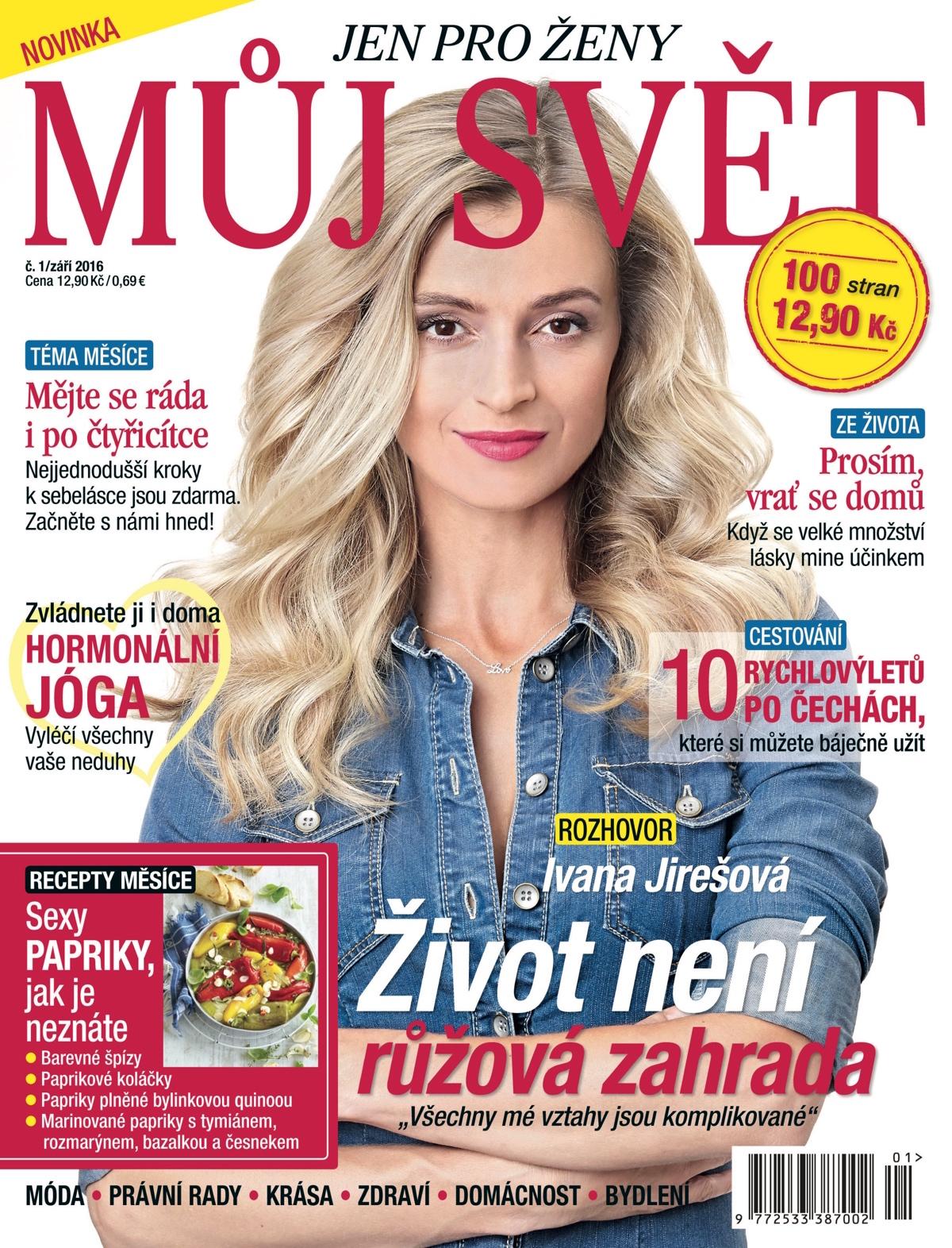 Titulní strana prvního vydání měsíčníku Můj svět