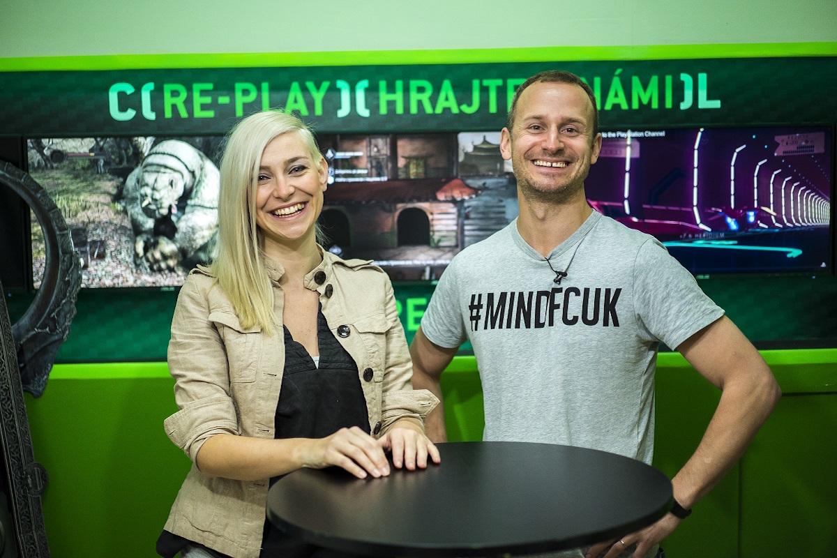 Alžběta Trojanová a Mikoláš Tuček v pořadu Re-play