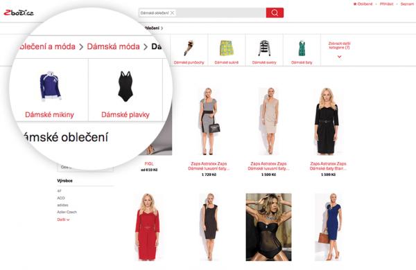 Zboží.cz nabídne nově i aktuální módní trendy