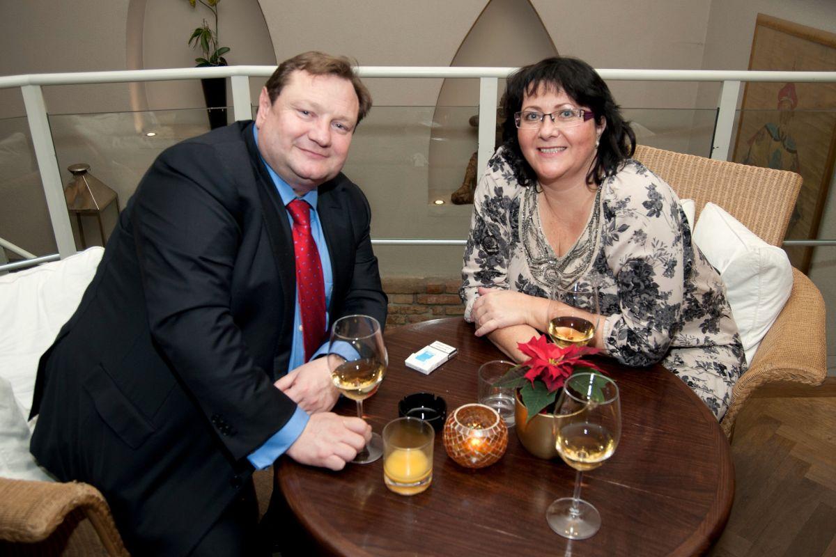 Martin Štěpánek s bývalou finanční ředitelkou Publicis Prague Blankou Procházkovou v roce 2011