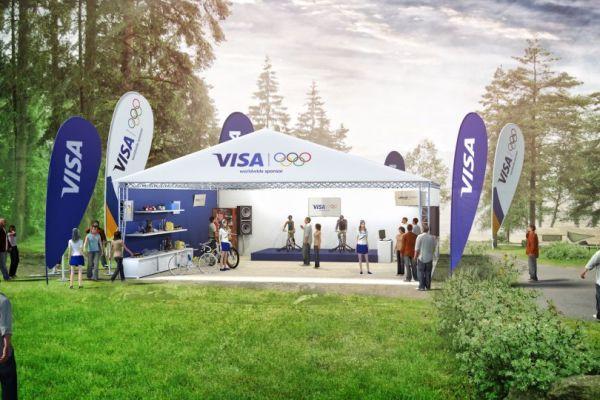 Vizualizace stanu Visa, v němž se návštěvníci setkají s rozšířenou realitou