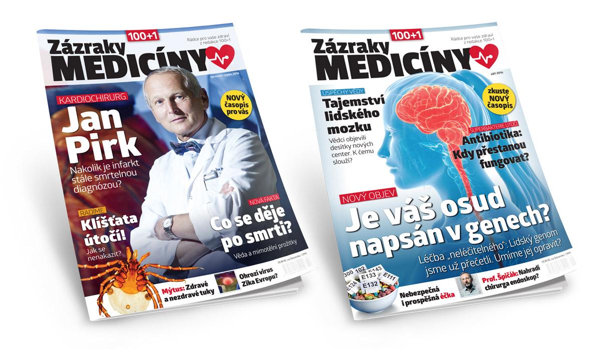 Titulní strany nového časopisu Zázraky medicíny