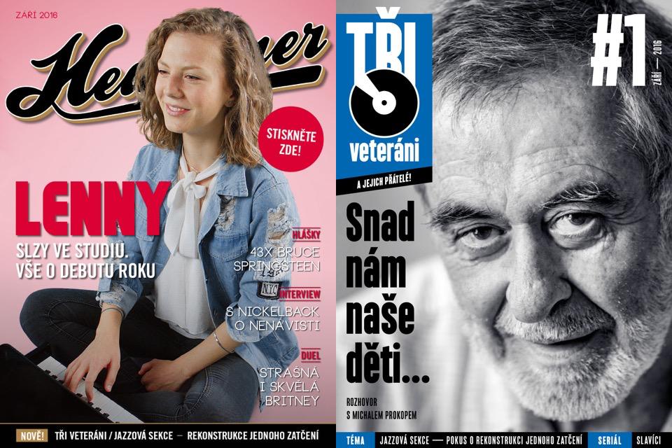Titulní strana zářijového Headlineru s novou přílohou Tři veteráni