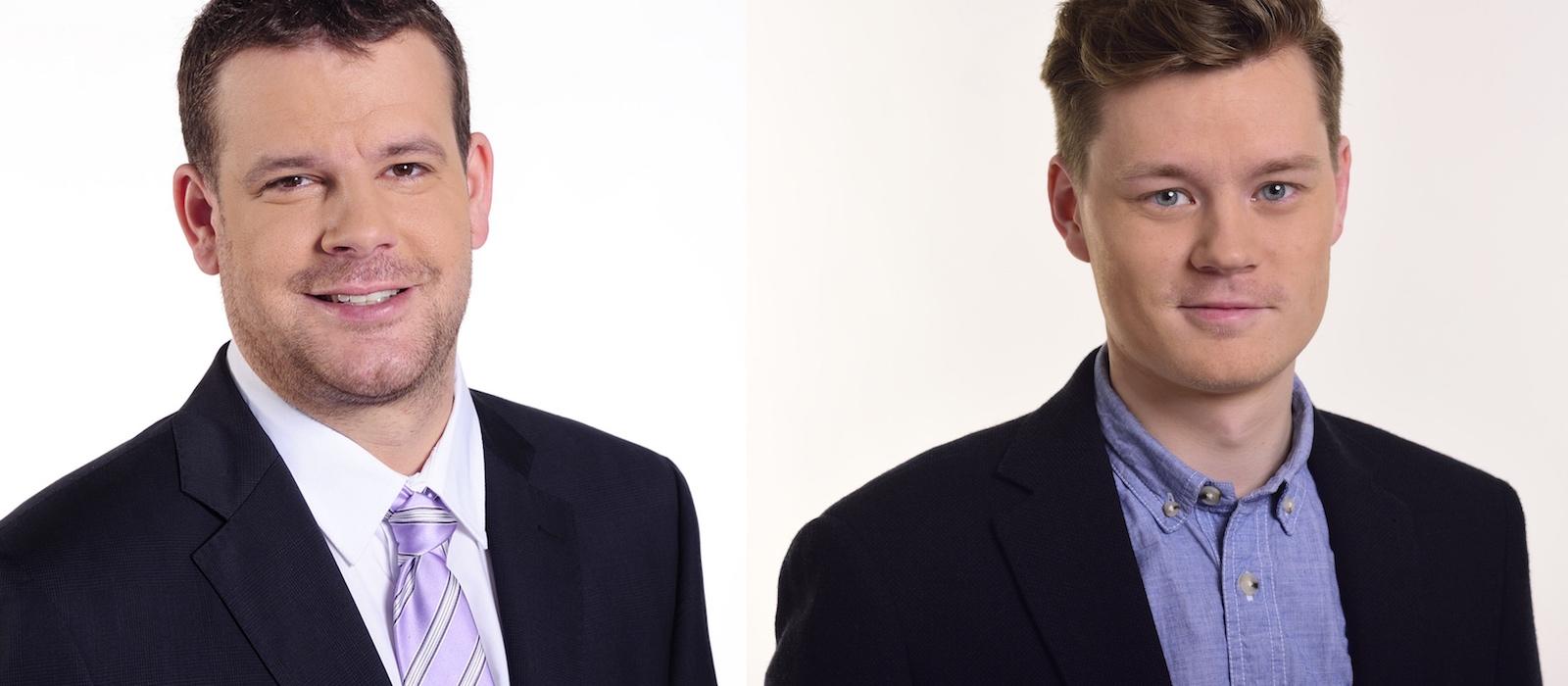 Komentátorské duo Jan Homolka (vlevo), Richard Tesař. Foto: O2