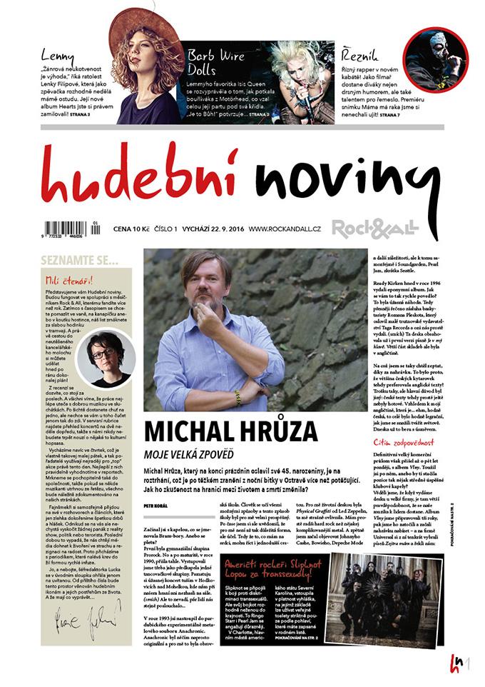Titulní strana prvního vydání Hudebních novin