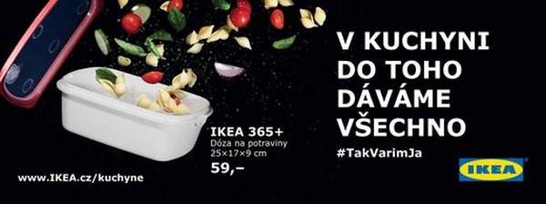 Jeden z billboardů, vytvořený na podporu prodeje náčiní do kuchyně