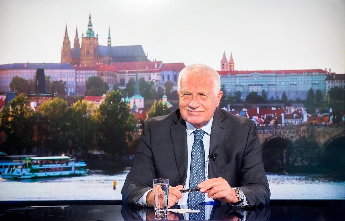 První vysílání Rozstřelu s Václavem Klausem. Foto: Mafra/Dan Materna