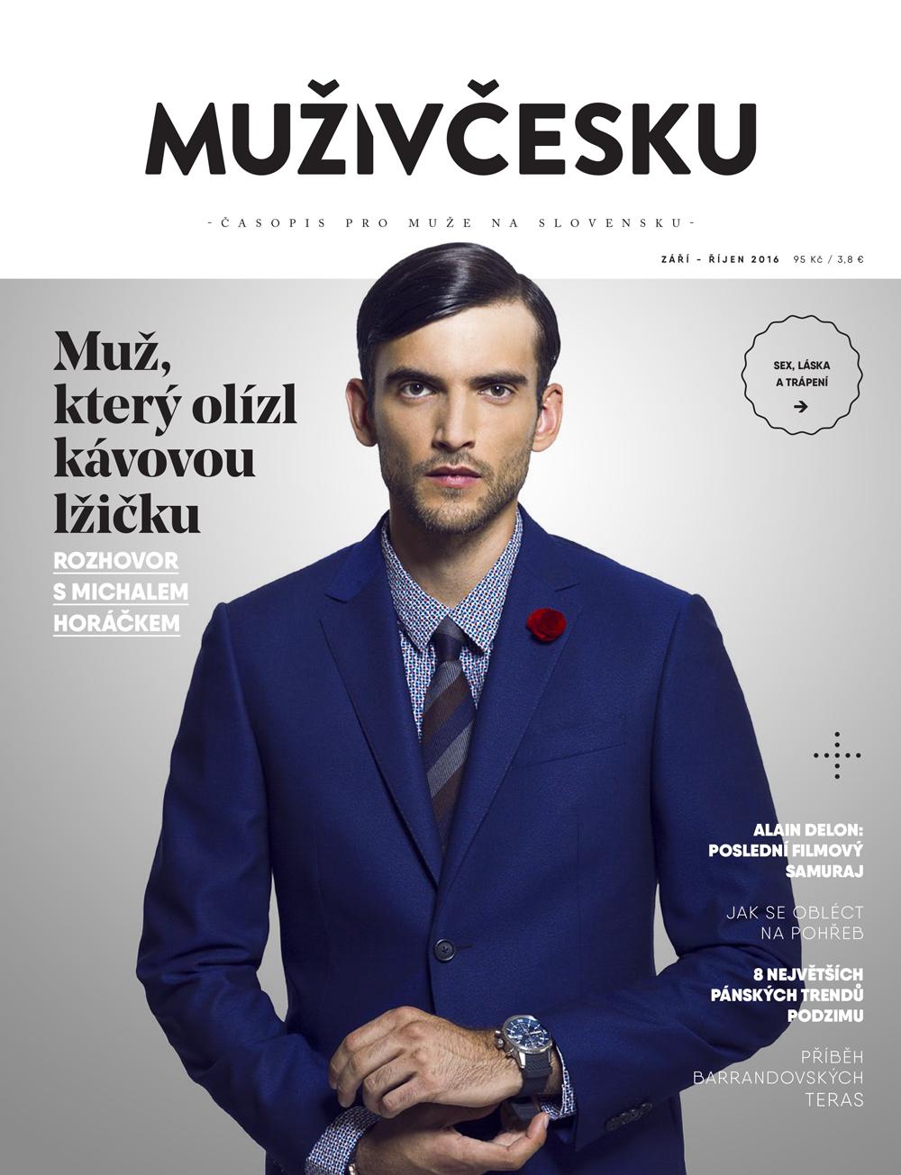 Obálka druhého tištěného vydání magazínu Muži v Česku