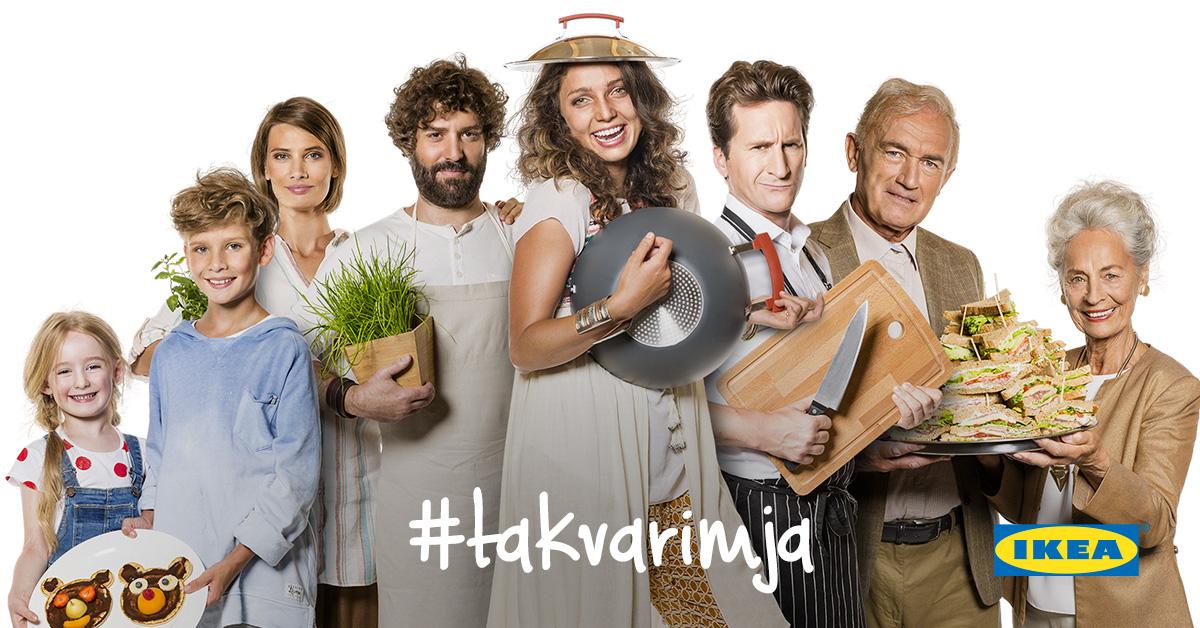 Úvodní fotografie webové stránky, která doprovází kampaň Tak vařím já od Ikey