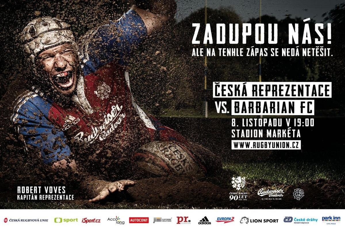 Rugby Union zve na zápas s týmem The Barbarians