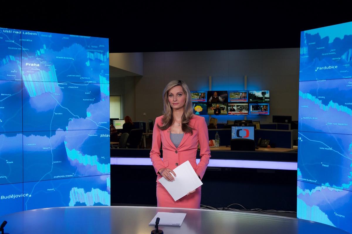Nové studio ČT v Brně-Líšni, newsroom. Foto: ČT