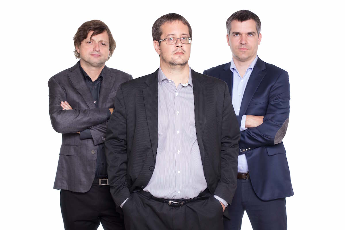 Zleva Jaroslav Duroň, Josef Bouška, Rostislav Starý
