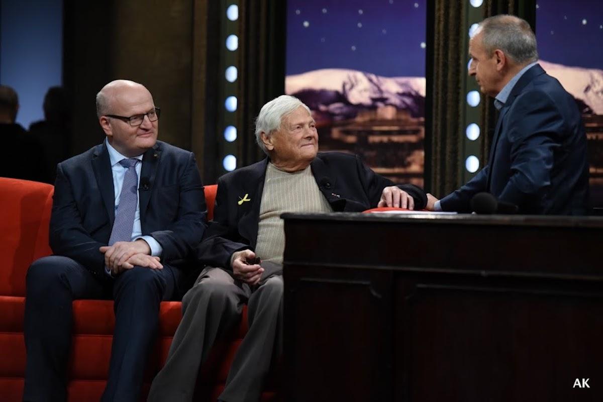 Daniel Herman a Jiří Brady v Show Jana Krause. Foto: TV Prima