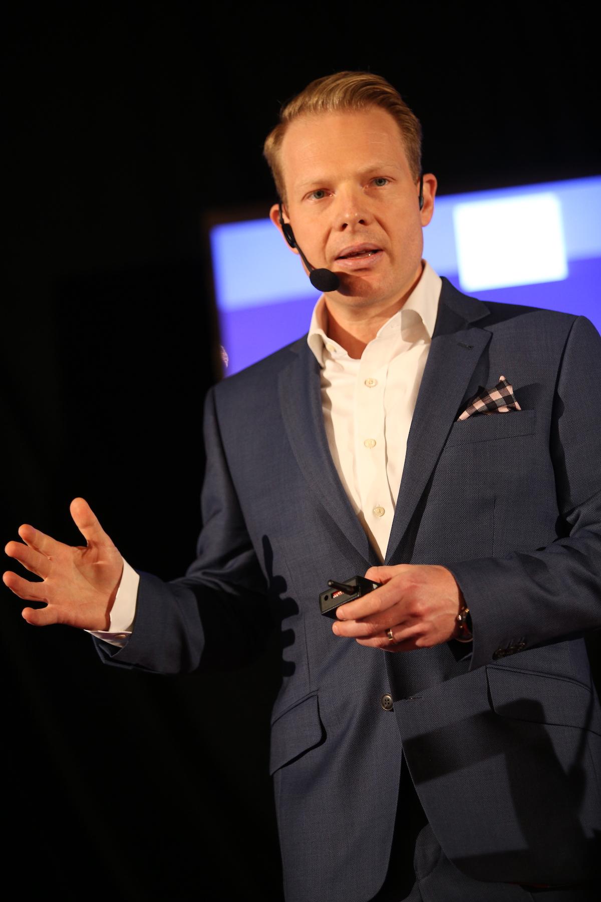 Patrik Schober na PR Summitu 2016 na pražském Žofíně