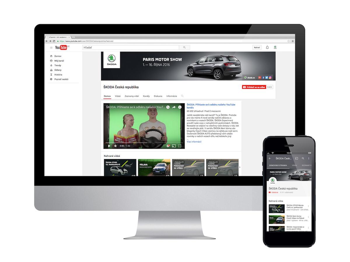 Škoda uvádí na videoserveru YouTube čtyři série videí