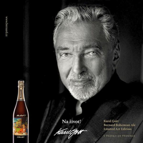 Karel Gott vytvoří etiketu vánoční edice piva Bernard