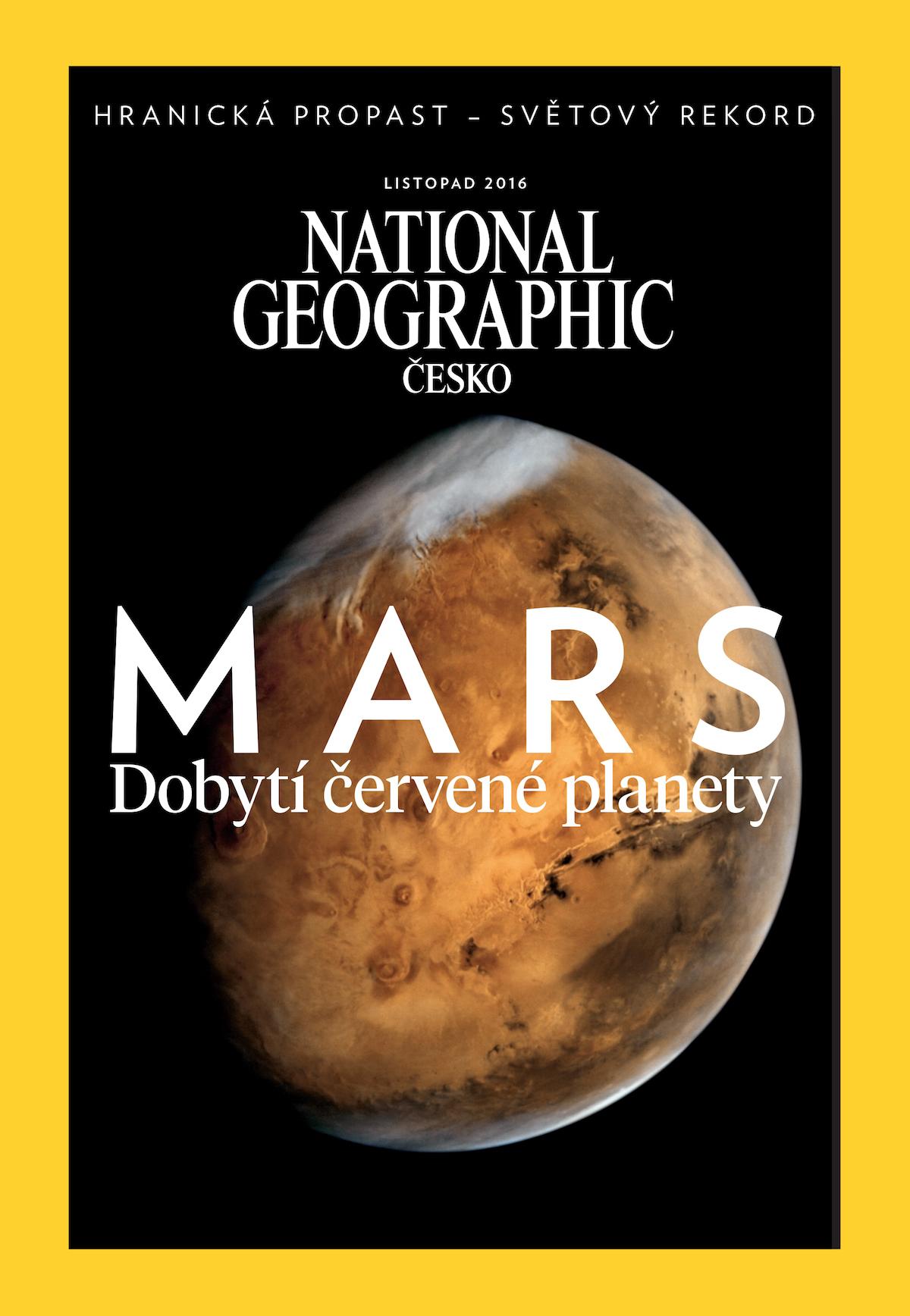 Nový podoba titulní strany National Geographic