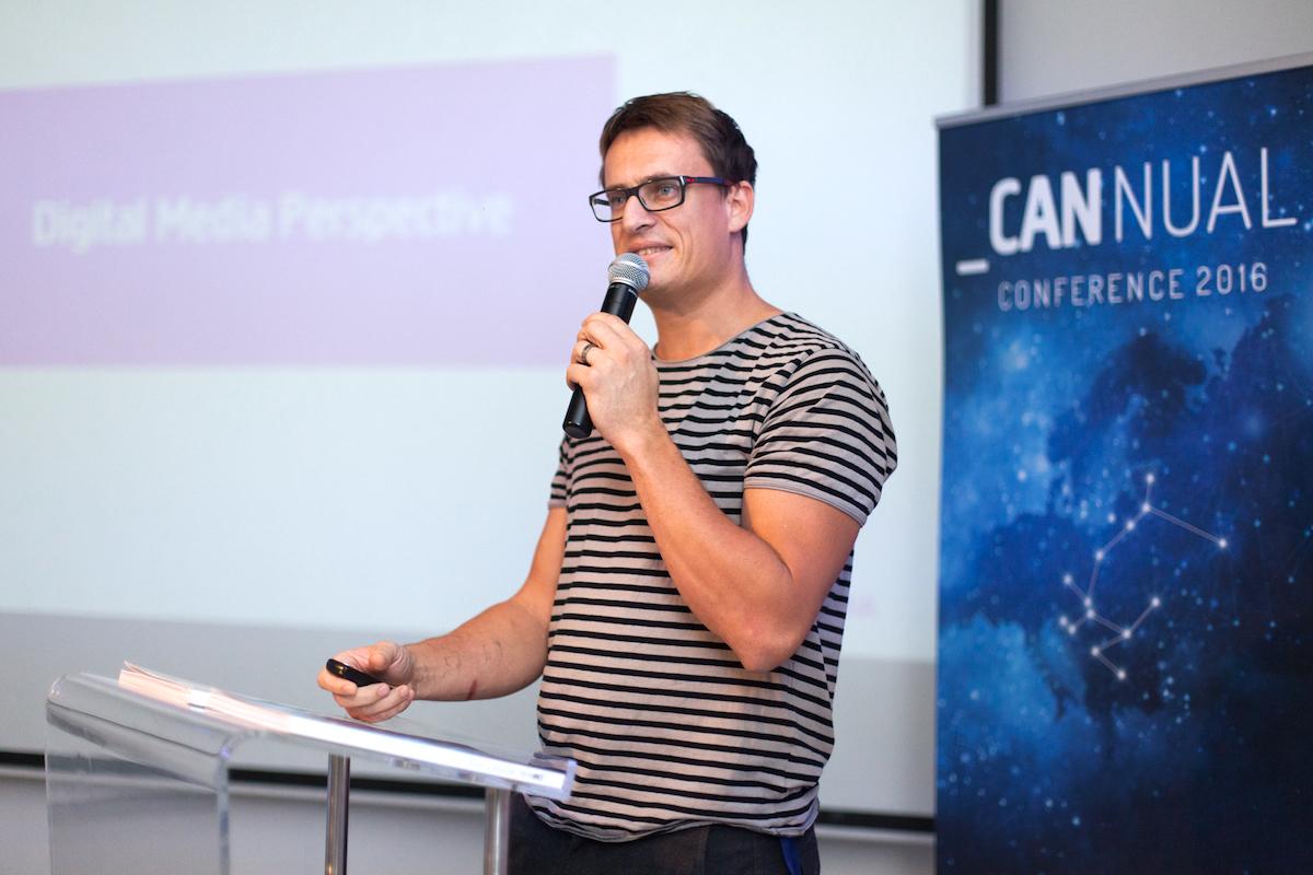 Štěpán Tesařík na konferenci Cannual 2016 v Budapešti