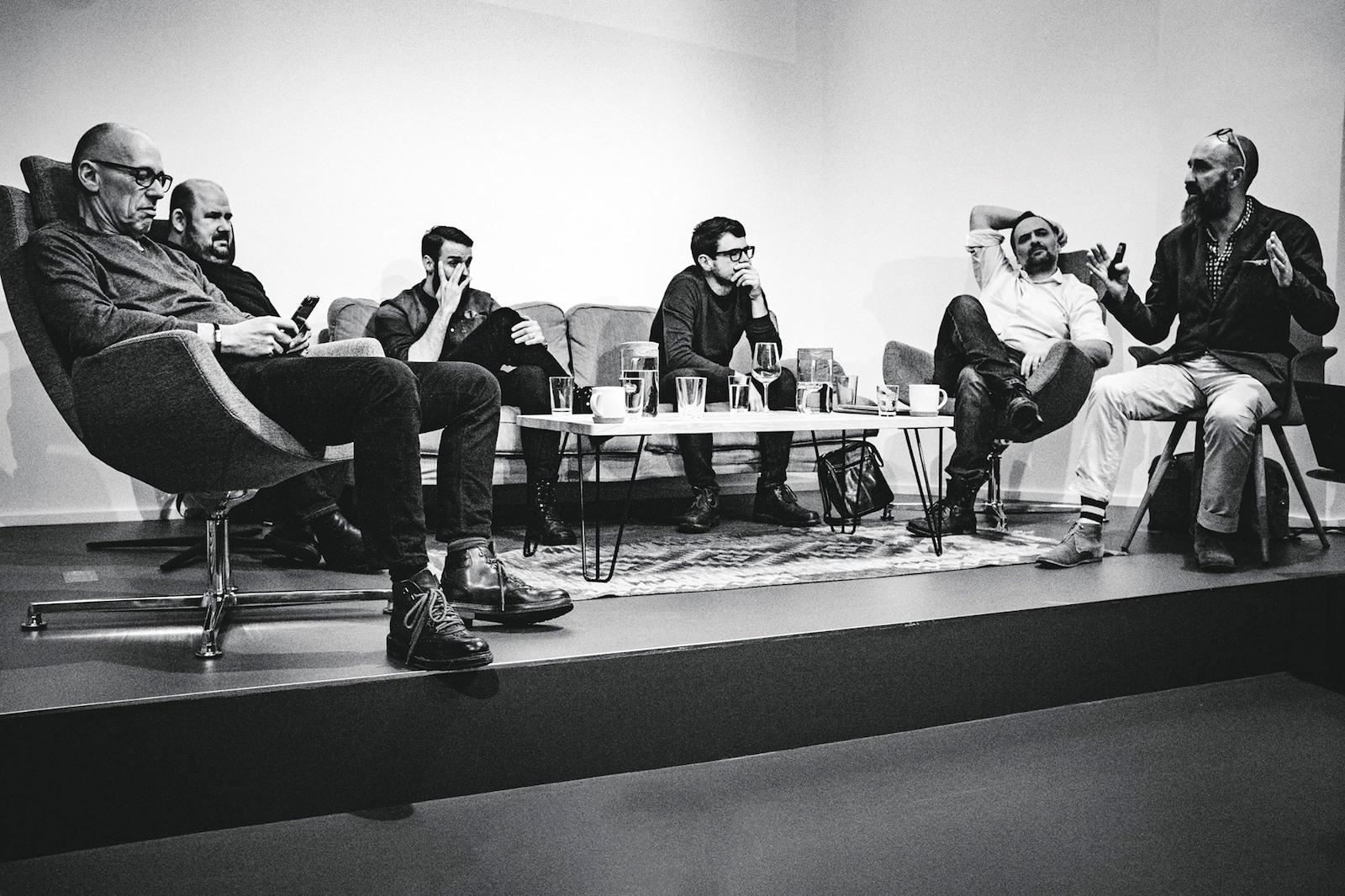 Zleva Josef Havelka, Lumír Kajnar, Jan Juza, David Zábranský, Tomáš Rektor, Tomáš Hrivnák. Foto: Adam Hrubý